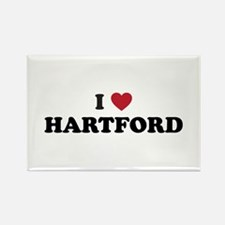 I Love Hartford Connecticut Rectangle Magnet