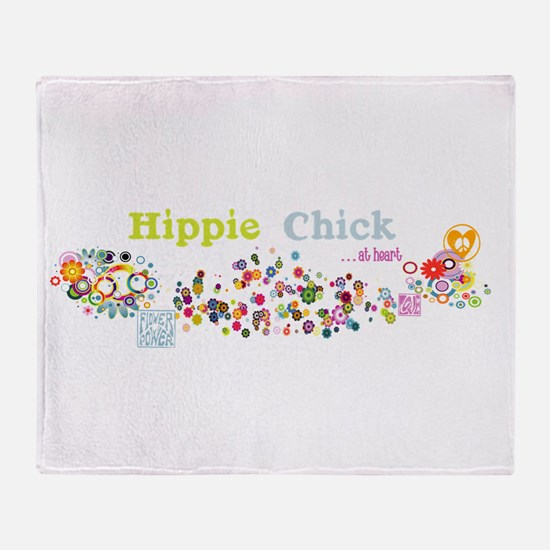 Hippie Chick at Heart Throw Blanket