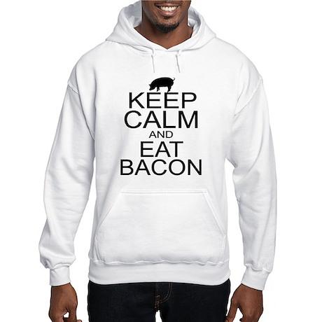 Keep Calm and Eat Bacon Hooded Sweatshirt