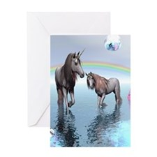 Unicorns Greeting Card