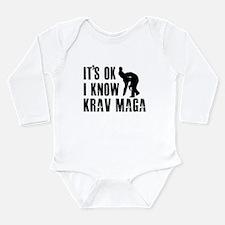 Krav Maga Designs Long Sleeve Infant Bodysuit