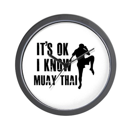 Muay Thai Designs Wall Clock