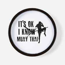 Muay Thai Designs Wall Clock