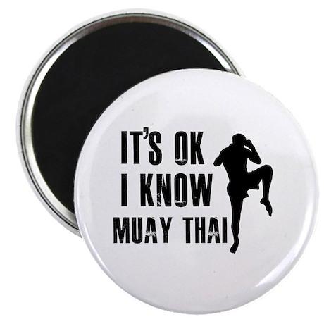 "Muay Thai Designs 2.25"" Magnet (100 pack)"