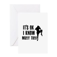 Muay Thai Designs Greeting Card