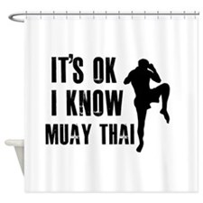 Muay Thai Designs Shower Curtain