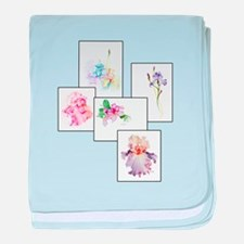 Bouquet baby blanket