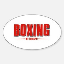 Boxing Designs Sticker (Oval)