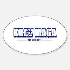 Krav Maga Designs Sticker (Oval)