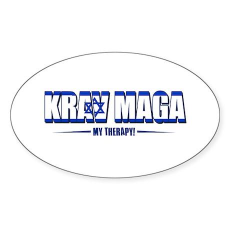 Krav Maga Designs Sticker (Oval 10 pk)