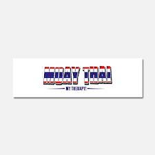 Muay Thai Designs Car Magnet 10 x 3