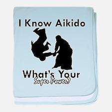 Aikido Is My Superpower baby blanket