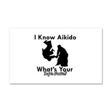 Aikido Is My Superpower Car Magnet 20 x 12