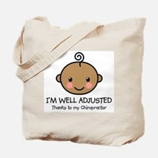 Well-Adjusted Baby (Dark) Tote Bag