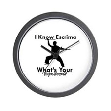 Escrima Is My Superpower Wall Clock