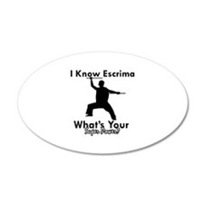 Escrima Is My Superpower Wall Decal