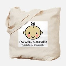 Well-Adjusted Baby (Med) Tote Bag