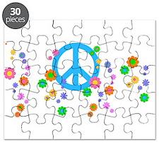 Peace Love Flowers Puzzle