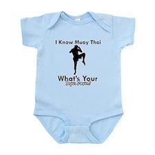 Muay Thai Is My Superpower Infant Bodysuit