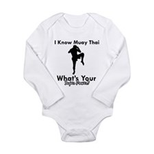 Muay Thai Is My Superpower Long Sleeve Infant Body