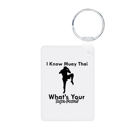 Muay Thai Is My Superpower Aluminum Photo Keychain