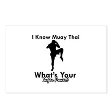 Muay Thai Is My Superpower Postcards (Package of 8