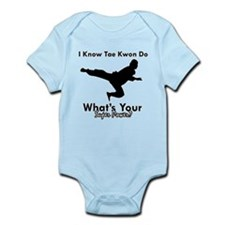Taekwondo Is My Superpower design Infant Bodysuit