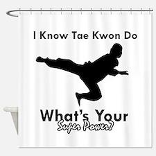 Taekwondo Is My Superpower design Shower Curtain