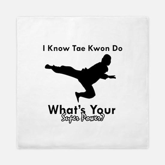 Taekwondo Is My Superpower design Queen Duvet