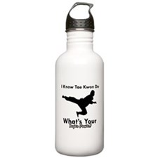 Taekwondo Is My Superpower design Water Bottle