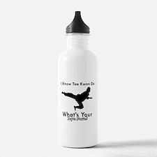 Taekwondo Is My Superpower design Water Bottle