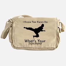 Taekwondo Is My Superpower design Messenger Bag