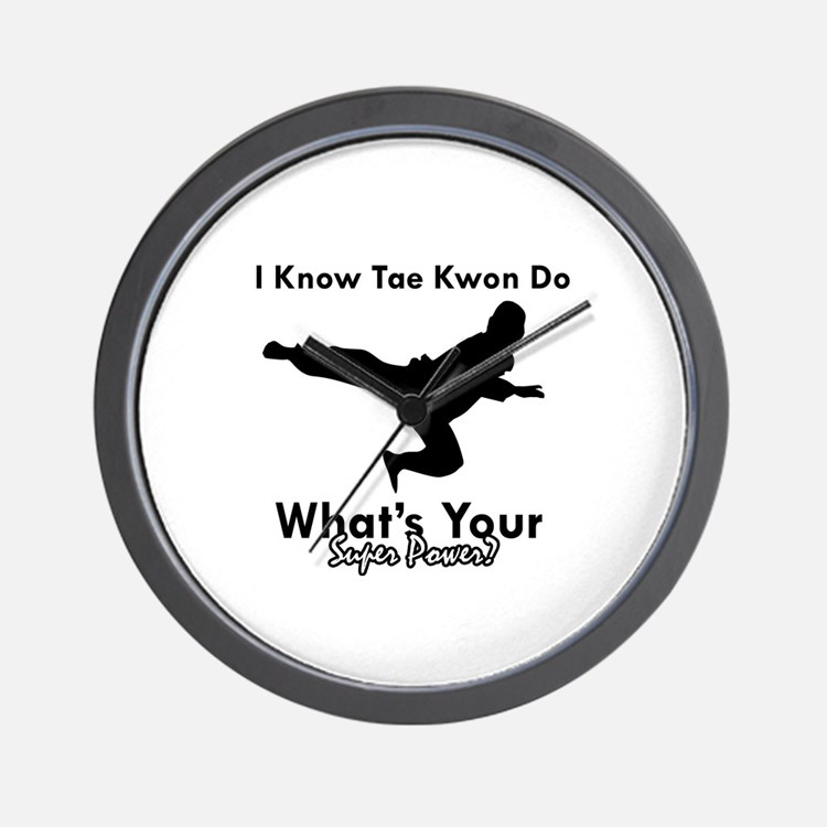 Taekwondo Is My Superpower design Wall Clock