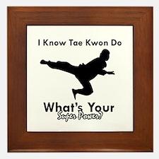 Taekwondo Is My Superpower design Framed Tile