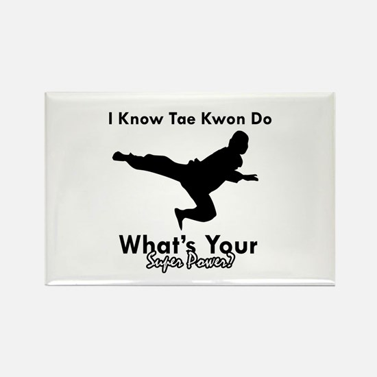 Taekwondo Is My Superpower design Rectangle Magnet