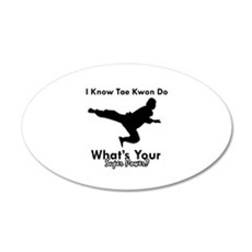 Taekwondo Is My Superpower design Wall Decal