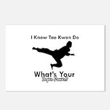 Taekwondo Is My Superpower design Postcards (Packa