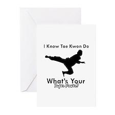 Taekwondo Is My Superpower design Greeting Cards (