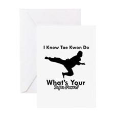 Taekwondo Is My Superpower design Greeting Card