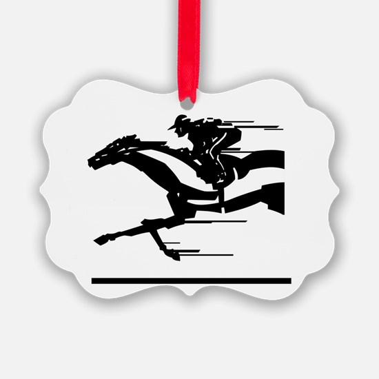 Horse Racing Ornament