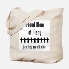 Mom of Many - 9 kids Tote Bag