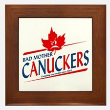 Canadian with Attitude Framed Tile