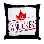 Mother Canucker Throw Pillow