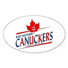 Canadian with Attitude Oval Bumper Stickers