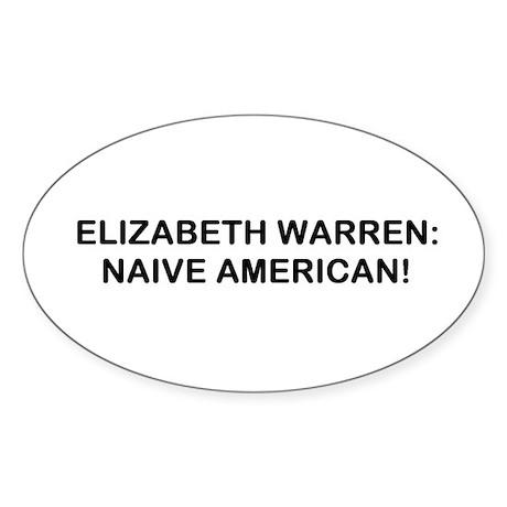 Naive American Sticker (Oval)