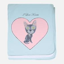 I Love Korats baby blanket