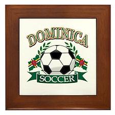 Dominican Football Framed Tile