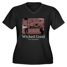 Wicked Good-NH-1-Red.png Women's Plus Size V-Neck