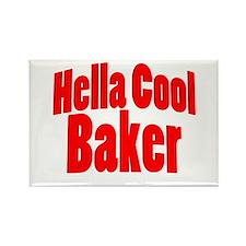 Hella Cool Baker Rectangle Magnet