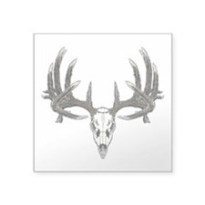 "Big whitetail buck Square Sticker 3"" x 3"""
